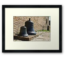 Two church bells  from the fortress wall close to Framed Print