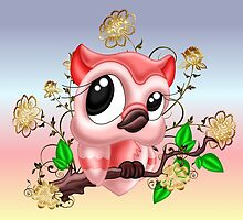 A Pretty Pink Owl by LoneAngel