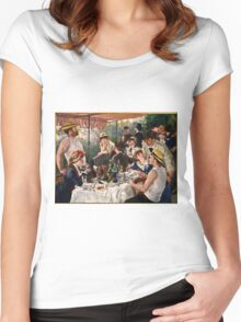 Renoir Auguste - Luncheon of the Boating Party (1880 1881)  Women's Fitted Scoop T-Shirt
