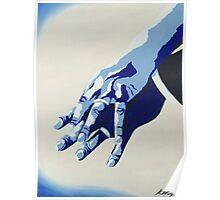 Wedding Rings - Blue Poster