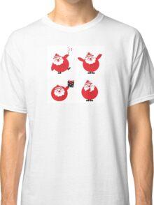 Vector illustration of cute cartoon Santa Claus set in various poses Classic T-Shirt
