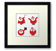 Vector illustration of cute cartoon Santa Claus set in various poses Framed Print