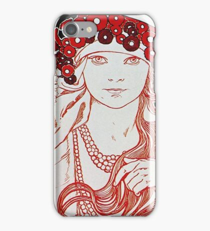 Alphonse Mucha - Mucha Exhibition iPhone Case/Skin