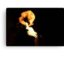 Crown casino - Melbourne fire Canvas Print