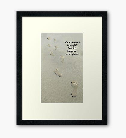 Footprints On My Heart Framed Print