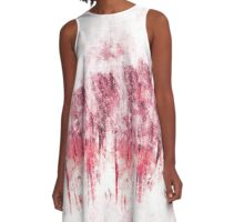 abstract 9-16c A-Line Dress