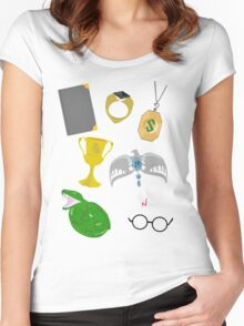 The Seven Horcruxes Women's Fitted Scoop T-Shirt