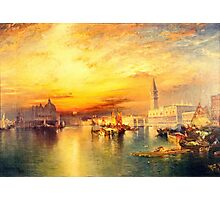 Thomas Moran - Grand Canal, Venice 1898  Photographic Print