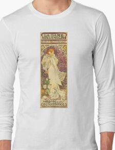 Alphonse Mucha - Lady Of The Camellias Long Sleeve T-Shirt