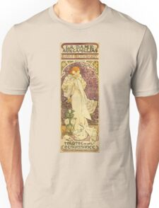Alphonse Mucha - Lady Of The Camellias Unisex T-Shirt