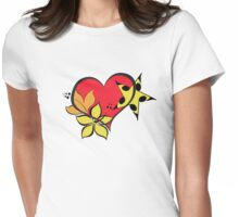 Love flower star Womens Fitted T-Shirt