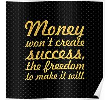 "Money won't create... ""Nelson Mandela"" Inspirational Quote (Square) Poster"