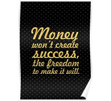 "Money won't create... ""Nelson Mandela"" Inspirational Quote Poster"