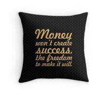 "Money won't create... ""Nelson Mandela"" Inspirational Quote Throw Pillow"