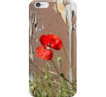 abandoned house with poppies iPhone Case/Skin