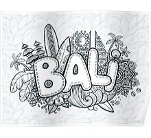 Bali doodle Poster