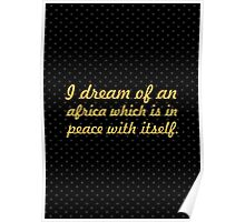 "A dream of an... ""Nelson Mandela"" Inspirational Quote Poster"
