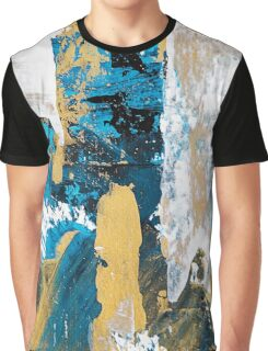 Teal Abstract Graphic T-Shirt