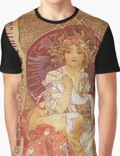 Alphonse Mucha - Guide Officiel Des Sections Autrichiennes De L Exposition Universelle De Paris Graphic T-Shirt