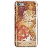 Alphonse Mucha - Guide Officiel Des Sections Autrichiennes De L Exposition Universelle De Paris iPhone Case/Skin