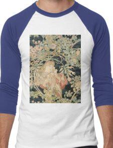 Alphonse Mucha - Eugene Samuel Grasset - Alphonse Mucha - Femme a La Marguerite1899  Men's Baseball ¾ T-Shirt