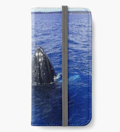 Humpback in Blue iPhone Wallet/Case/Skin