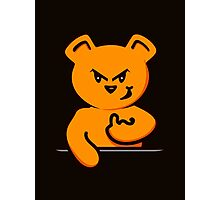 Smirky Teddy VRS2 Photographic Print