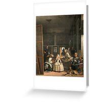 Velazquez - Las Meninas Greeting Card