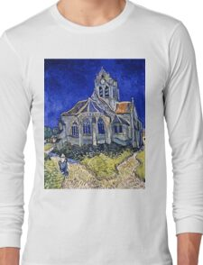 Vincent Van Gogh -  Church In Auvers Sur Oise, View From  Chevet 1890  Long Sleeve T-Shirt