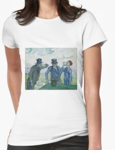 Vincent Van Gogh -  Drinkers (After Daumier), 1890 Womens Fitted T-Shirt