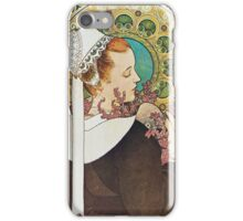 Alphonse Mucha - Bruyere De Falaiseheather iPhone Case/Skin