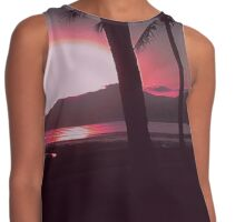 Mission Beach Sunrise in Red Contrast Tank
