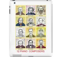 12 Piano Composer Portraits iPad Case/Skin