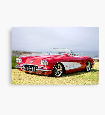 1958 Corvette 'Seaside' Roadster Canvas Print