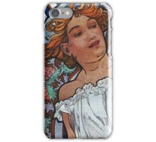 Alphonse Mucha - Bleu Deschamps iPhone Case/Skin