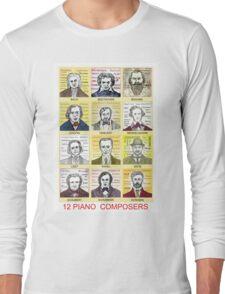 12 Piano Composer Portraits Long Sleeve T-Shirt