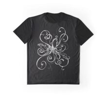 White On Black Burst Graphic T-Shirt