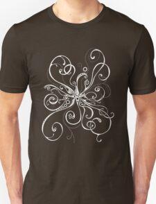 White On Black Burst Unisex T-Shirt