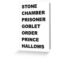 Stone, Chamber.... Greeting Card