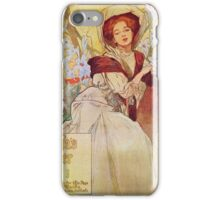 Alphonse Mucha - American Journal Examiner  iPhone Case/Skin