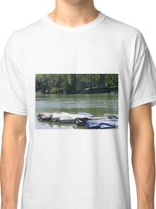 boat on river Classic T-Shirt