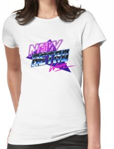 new retro wave Womens Fitted T-Shirt