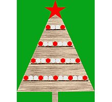 Wooden Christmas tree Photographic Print