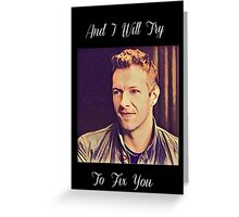 Coldplay-Fix You Lyrics Greeting Card
