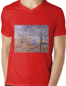 Alfred Sisley - Banks of the Loing - Autumn Effect, 1881 Mens V-Neck T-Shirt