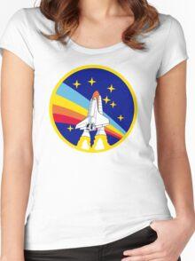 Rainbow Rocket Women's Fitted Scoop T-Shirt