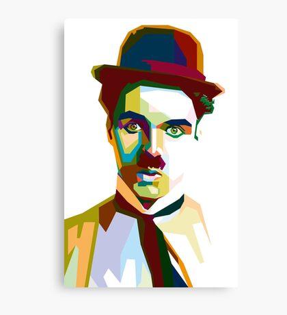 Charlie Chaplin in WPAP Art Canvas Print