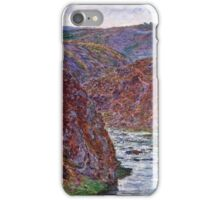 Claude Monet - Valley of the Creuse (Gray Day) (1889)  iPhone Case/Skin