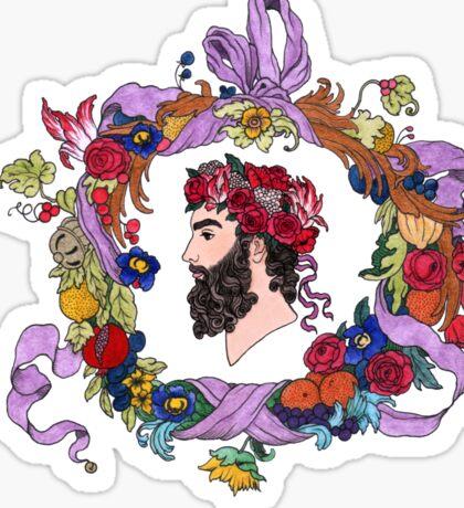 Masculine flora Sticker