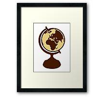 Globe world map Framed Print